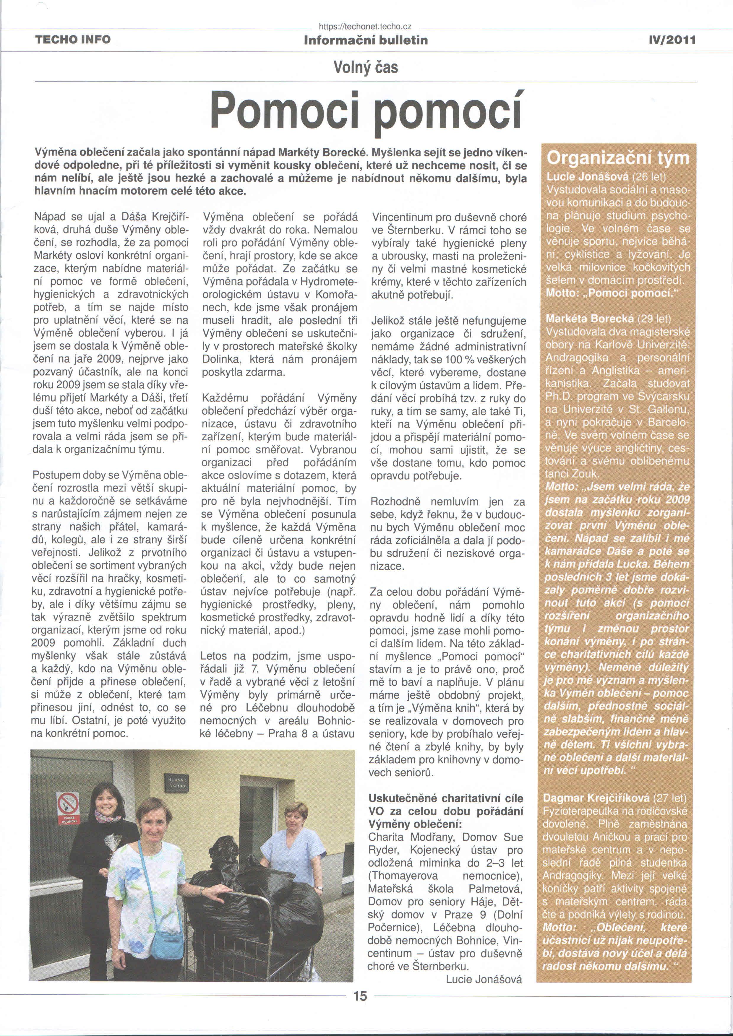 Článek z Informačního bulletinu